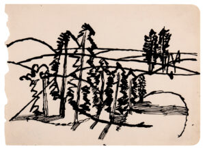 VAUGHAN Keith (1912-1977) - Landscape with firs.