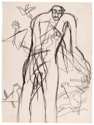 VAUGHAN Keith (1912-1977) - Man feeding Birds.