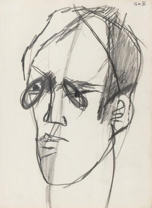 VAUGHAN Keith (1912-1977) - Portrait of Gustav Mahler VI.