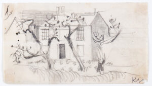 VAUGHAN Keith (1912-1977) - Hedge and house.