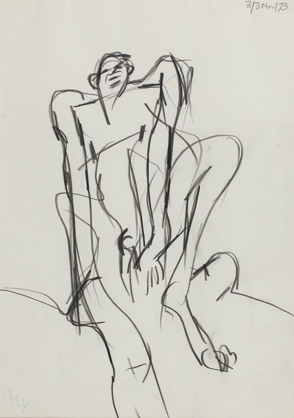 VAUGHAN Keith (1912-1977) - A 'Grafitti' drawing.