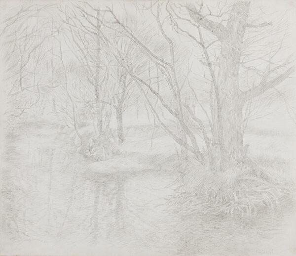 VELLACOTT Elisabeth (1905-2002) - 'River Edw – Early Spring 1976'.