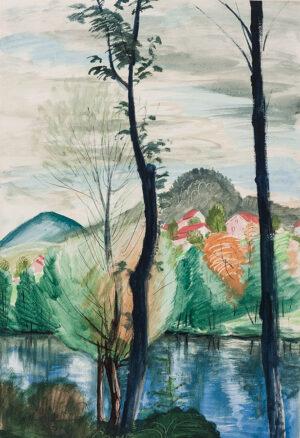 VERGE-SARRAT Henri (1880-1966) - 'La Loire et la Mont Corneville'.