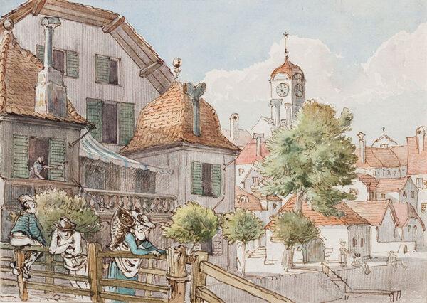 VERNEY Lady (Frances Parthenope Nightingale) (1819-1890) - Switzerland, 'Lake Morat'.