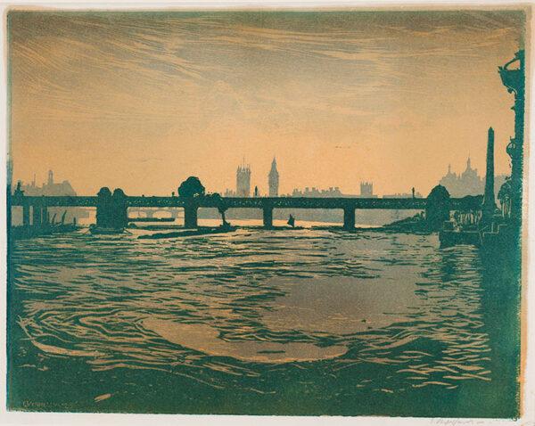 VERPILLEUX Emile Antoine (1888-1964) - The Thames.