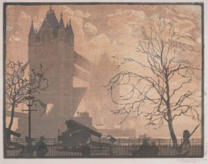 VERPILLEUX Emile Antoine (1888-1964) - 'Tower Bridge'.