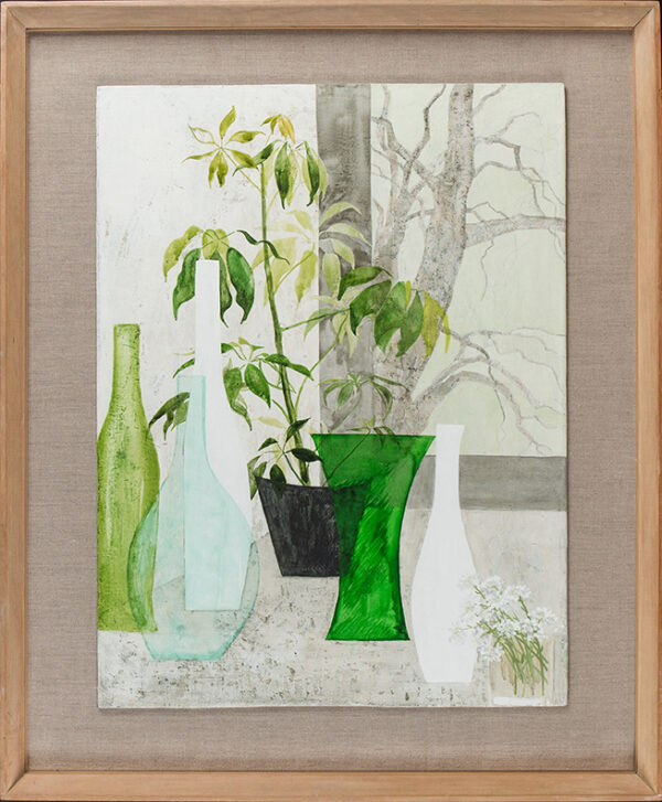 VERREN Angela (b.1930) - 'Green and White'.