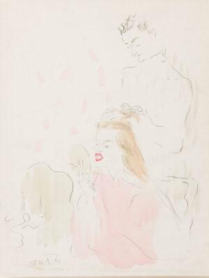 VERTES Marcel (1895-1961) - 'Making Up'.