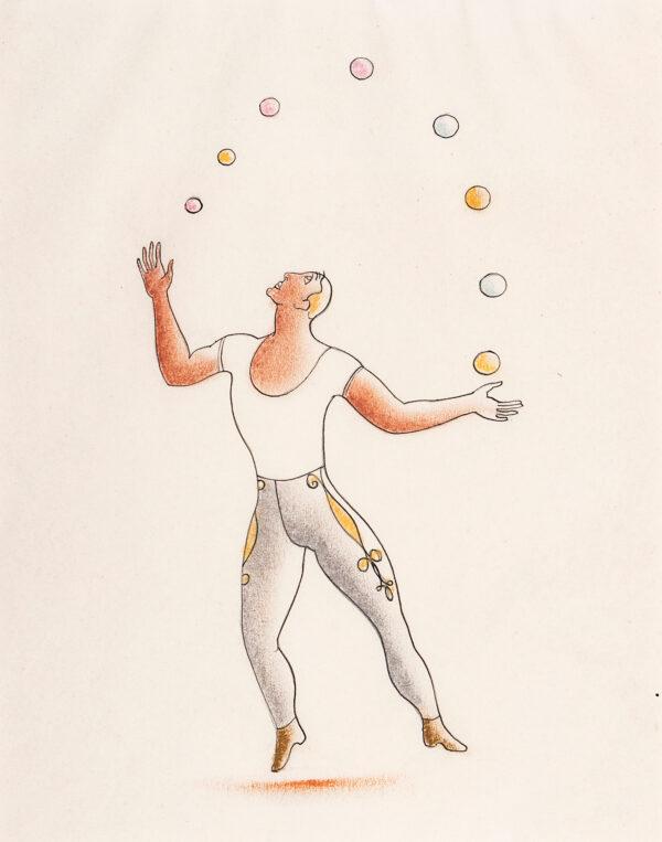 VEZELAY Paule (1892-1984) - A Juggler.
