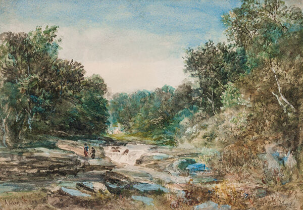 VICKERS Alfred (1786-1868) - A fishing river.