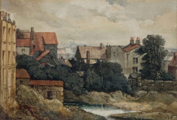 VICKERS Alfred Gomersal (1810-1837) - 'Islington'; the backs of Angel Terrace.
