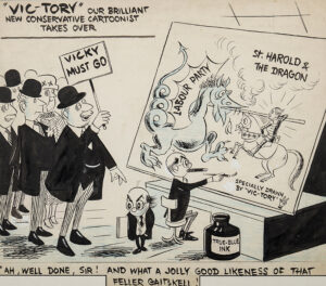 VICKY (Victor Weisz 1913-1966) - 'Vic – Tory…' Crayon, brush and ink for the Evening Standard, 26th May 1959.
