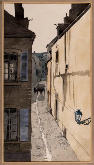 VULLIAMY Edward (1876-1962) - Street in Boulogne.