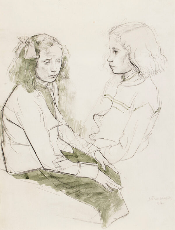 WARD John Stanton C.B.E. (1917-2007) - Studies for a portrait.