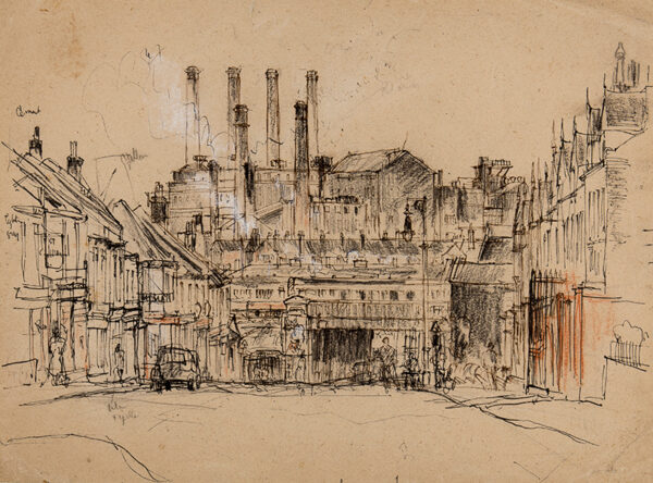 WAGHORN Tom (1900-1959) - Industrial townscape.