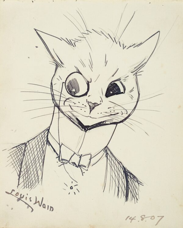 Louis Wain (1860-1939) -  A Stage Door Tommy.