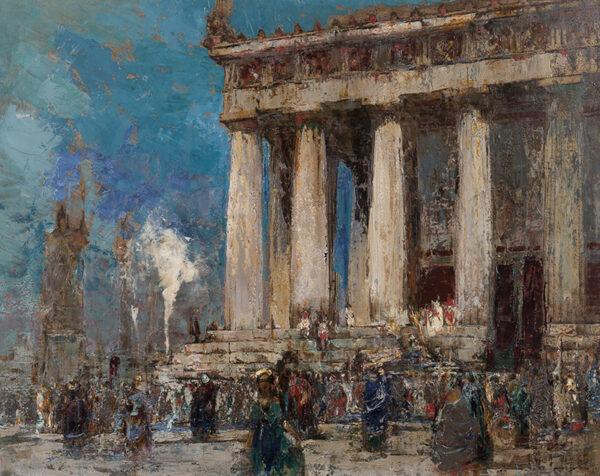 WALCOT William R.E. (1874-1943) - Greek Temple.