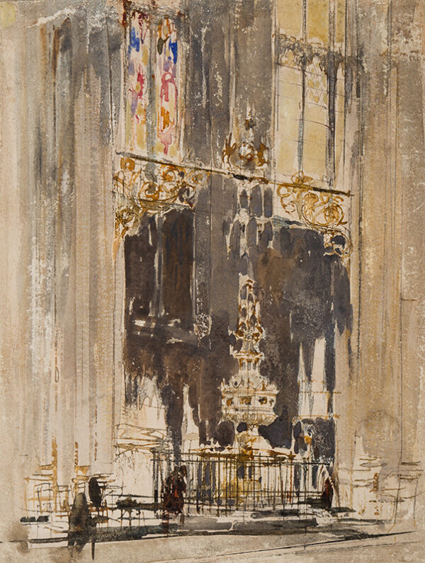WALCOT William R.E. (1874-1943) - Canterbury Cathedral Font.