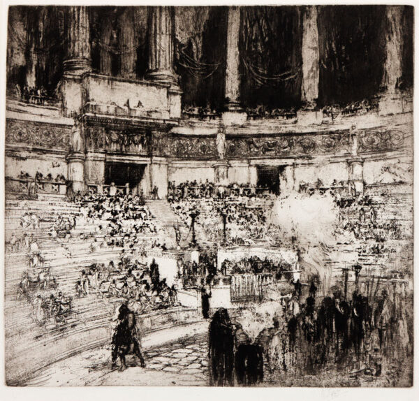 WALCOT William R.E. (1874-1943) - 'Performance before Hadrian' Etching and aquatint.