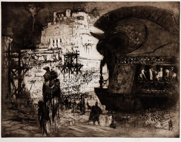 WALCOT William R.E. (1874-1943) - 'The Trojan Horse'.