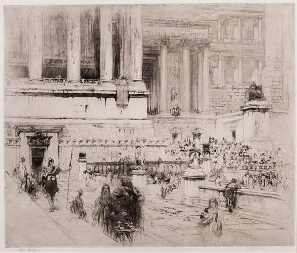 WALCOT William R.E. (1874-1943) - 'The Forum'.