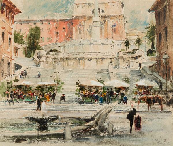 WALCOT William R.E. (1874-1943) - Rome: Piazza di Spagna.