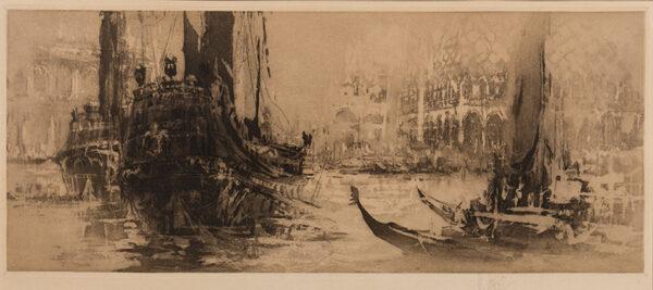 WALCOT William R.E. (1874-1943) - Venetian capriccio.
