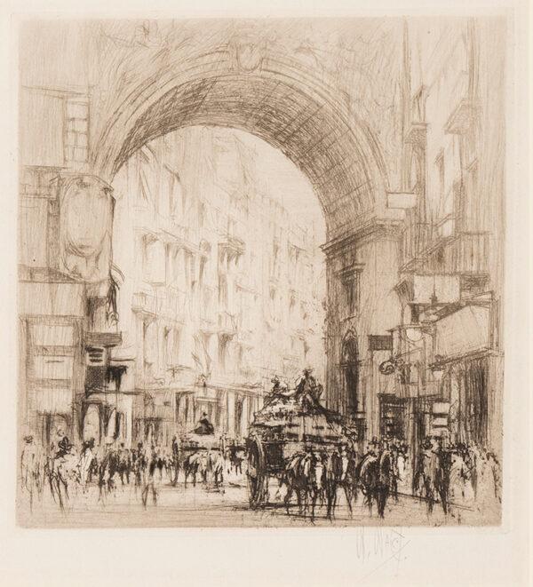 WALCOT William R.E. (1874-1943) - 'Arco San Carlo, Naples'.
