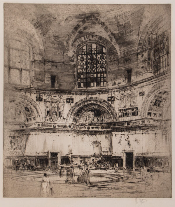 WALCOT William R.E. (1874-1943) - 'The Caldarium of the Baths of Caracalla'.