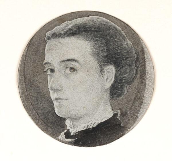 WALKER Cordelia (fl.1860s) - Self-portrait.
