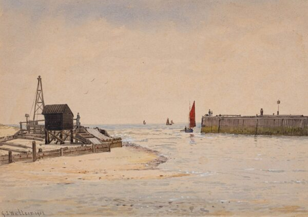 WALTERS George Stanfield (1838-1894) - 'Entrance to (the harbour', River Blyth'.