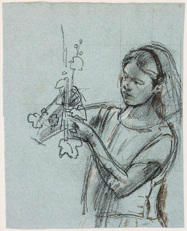 WARD John Stanton C.B.E. (1917-2007) - Study of a girl.