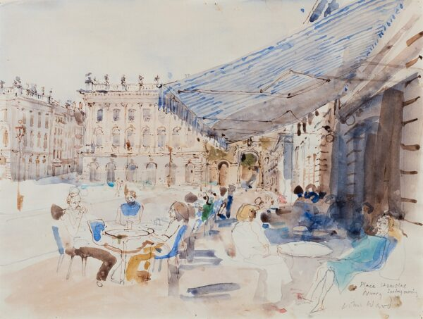 WARD John Stanton C.B.E. (1917-2007) - 'Place Stanislas, Nancy, Sunday morning'.