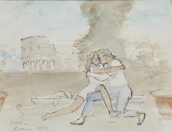 WARD John Stanton C.B.E. (1917-2007) - 'Love in Rome'.
