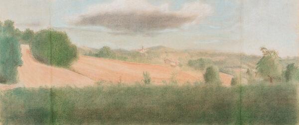 WARD Charlotte (b.1957) - 'Castel del Aquila, Umbria'.