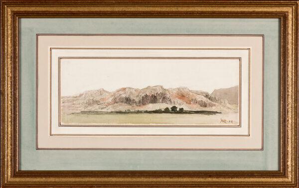 WARD James R.A. (1769-1859) - Goredale Scar? Watercolour.