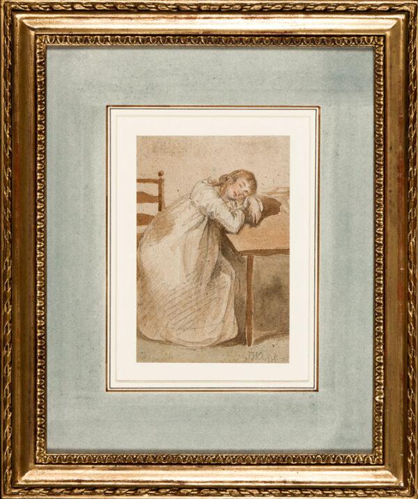 WARD James R.A. (1769-1859) - Sleeping woman.