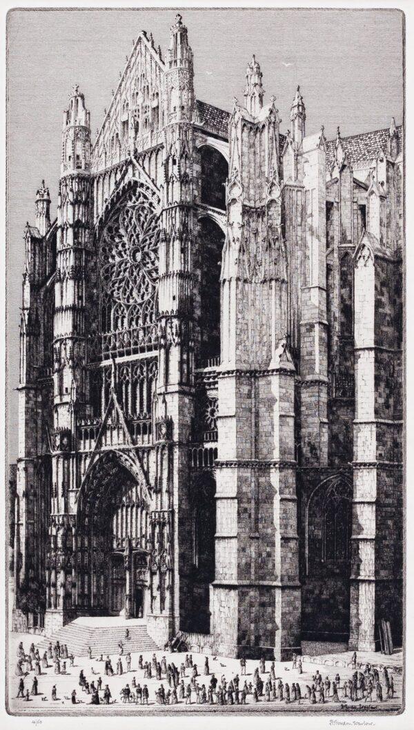 WARLOW Herbert Gordon R.E. R.B.A. (1885-1942) - Beauvais Cathedral.