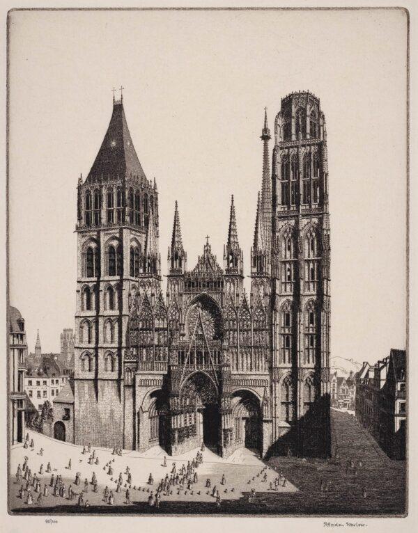 WARLOW Herbert Gordon R.I. (1885-1942) - Rouen Cathedral.