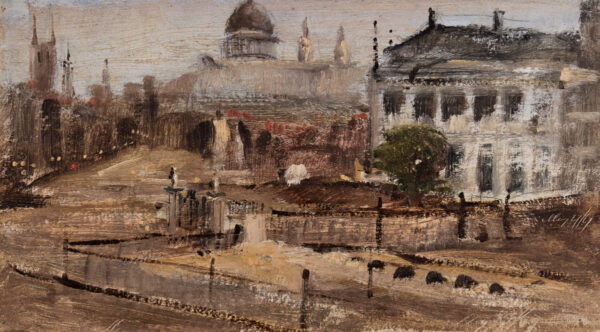 WARREN William White (1832-1915) - Distant St Paul's.