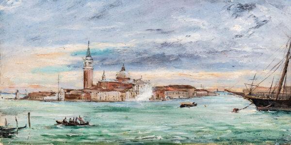 WARREN William White (1832-1911) - San Giorgio Maggiore, Venice.