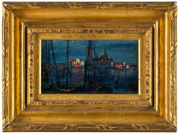 WARREN William White (1832-c.1912) - Venice at night: San Giorgio from the riva Schiavoni.