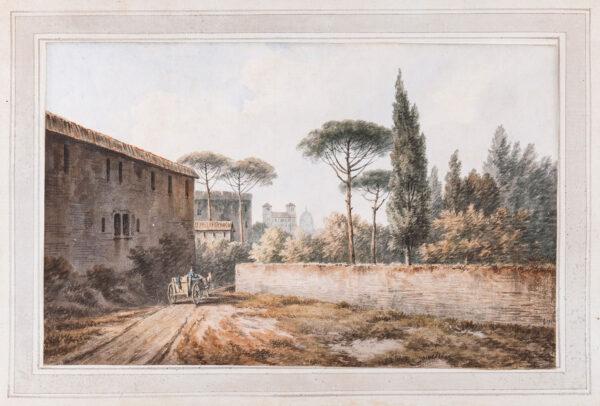 SMITH John 'Warwick'  (1749-1831) - 'Near the Porto Pinciano at Rome' (sic).