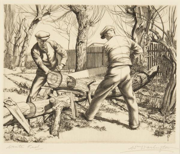 WASHINGTON William A.R.E. (1885-1956) - 'Winter Fuel'.