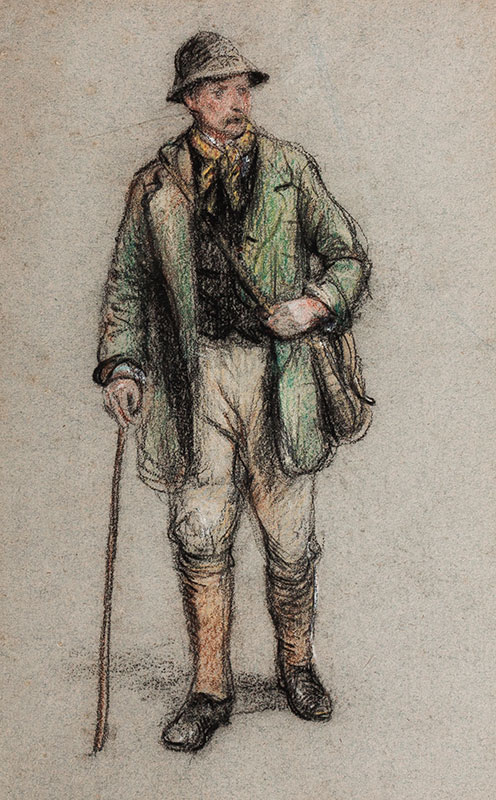 WATERLOW Ernest R.A. P.R.W.S. (1850-1919) - A Countryman.