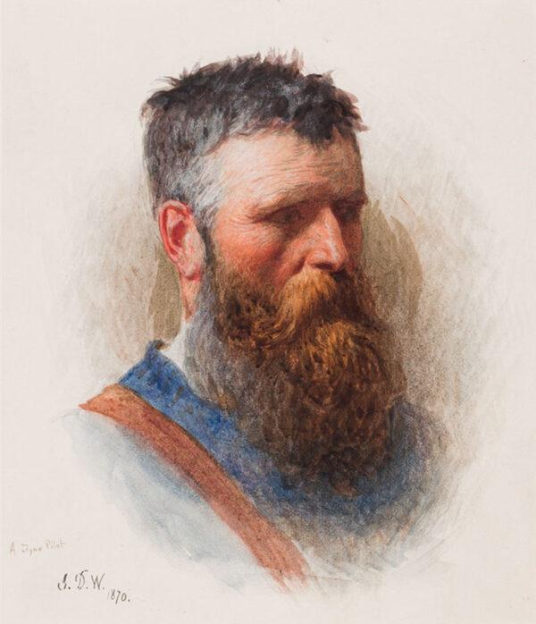 WATSON John Dawson R.W.S. (1832-1892) - 'A Tyne Pilot'.
