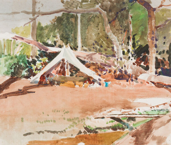 WATSON Harry R.W.S. (1871-1936) - The camp site.
