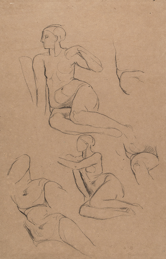 WATTS George Frederick OM (1817-1904) - Studies of 'Long Mary', housemaid and life model.
