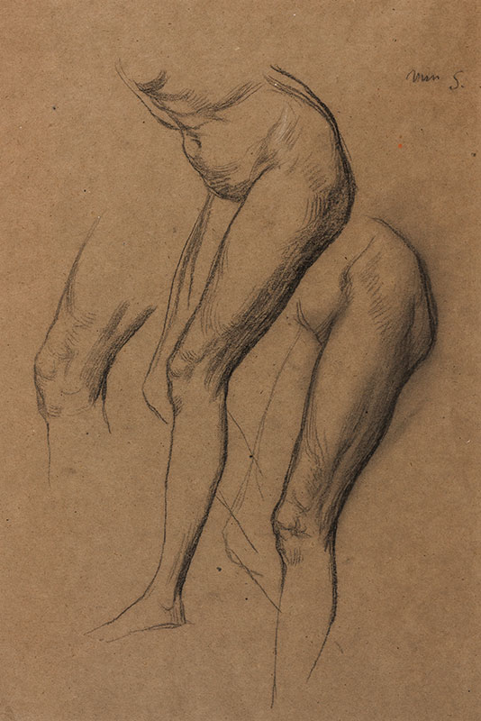 WATTS George Frederick O.M. R.A. (1817-1904) - Studies of a model, possibly 'Miss S'.
