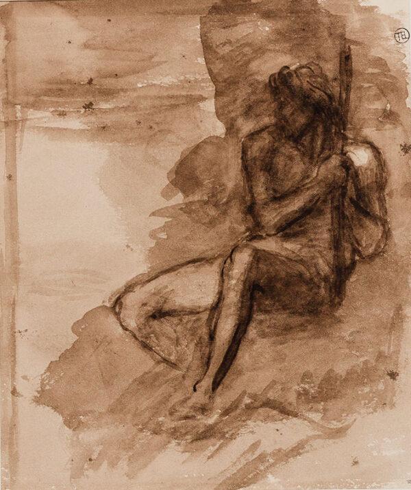 WATTS George Frederick O.M. R.A. (1817-1904) - Figure study.